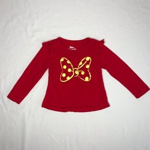 3T Red Long sleeve Disney Junior Minnie Top